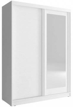 Ντουλάπα συρόμενη Bellamy-150 x 62 x 200 εκ.-Λευκό