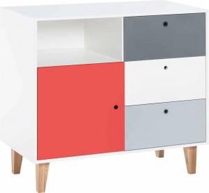 Συρταριέρα Concept-Κόκκινο