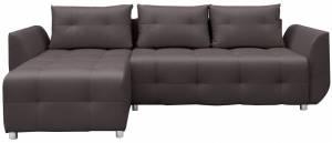Γωνιακός καναπές Marten-Γκρι - Καφέ