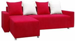 Γωνιακός καναπές Odette-Κόκκινο