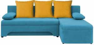 Σαλόνι γωνία Lamor-Γαλάζιο - Κίτρινο