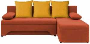 Σαλόνι γωνία Lamor-Πορτοκαλί - Κίτρινο