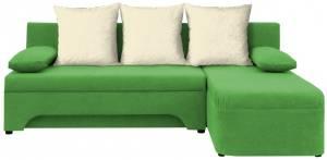Γωνιακός καναπές Lamor-Πράσινο - Λευκό