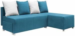 Γωνιακός καναπές Ezio-Γαλάζιο