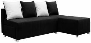 Γωνιακός καναπές Ezio-Μαύρο