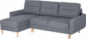 Γωνιακός καναπές Cotta-Δεξιά-Γκρι