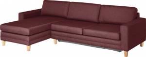 Γωνιακός καναπές Liam Small-Δεξιά-Βυσσινί