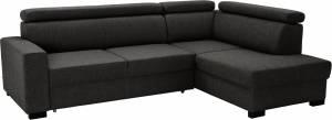 Γωνιακός καναπές Milton-Αριστερή-Γκρι Σκούρο