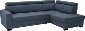 Γωνιακός καναπές Milton-Αριστερή-Μπλε - Γκρι