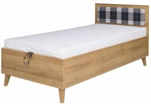 Κρεβάτι Memone-Φυσικό - Γκρι