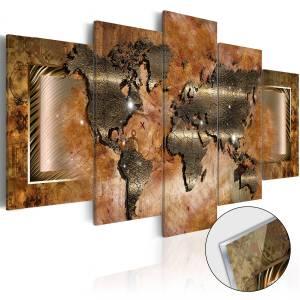 Πίνακας σε ακρυλικό γυαλί - Steel Map [Glass] - 200x100