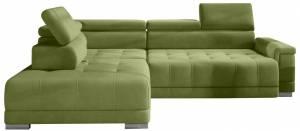 Γωνιακός καναπές Carmel-Prasino-Αριστερή