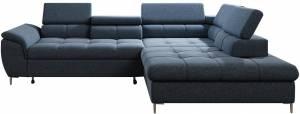 Γωνιακός καναπές Mento-Mple Skouro-Δεξιά