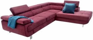 Γωνιακός καναπές Loriana-Αριστερή-Μπορντώ