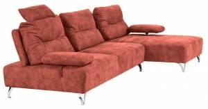 Γωνιακός καναπές Scorpio-Αριστερή-Kokkino