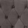 ΤΑΜΠΟΥΡΕ ΥΠΟΠΟΔΙΟ ΓΚΡΙ ΒΕΛΟΥΔΟ T.CHESTERFIELD EMMA 80x46x42Y εκ.HM226.10
