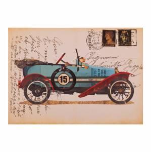 ΠΙΝΑΚΑΣ ΚΑΜΒΑΣ OLD CAR HM7153.10 70X50X2.5 εκ.