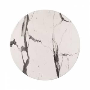 ΕΠΙΦΑΝΕΙΑ ΤΡΑΠΕΖΙΟΥ WERZALIT Φ60 MARBLE WHITE-GREY 5657 HM5227.11
