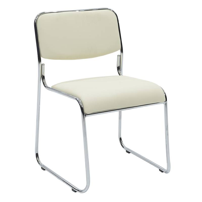 Καρέκλα επισκέπτη Corina με PVC χρώμα εκρού