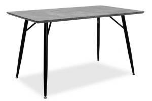 Τραπέζι Conor pakoworld με επιφάνεια MDF χρώμα γκρι cement πόδι μεταλλικό μαύρο 130x80x75,5εκ