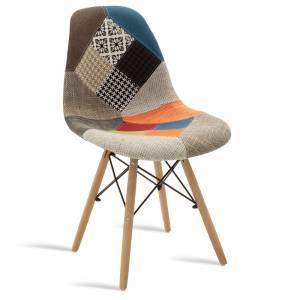 Καρέκλα Julita pakoworld πολυπροπυλενίου-ύφασμα patchwork πολύχρωμο