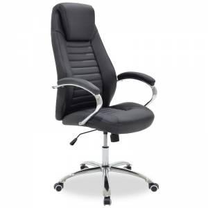 Καρέκλα γραφείου διευθυντή Sonar pakoworld pu μαύρο