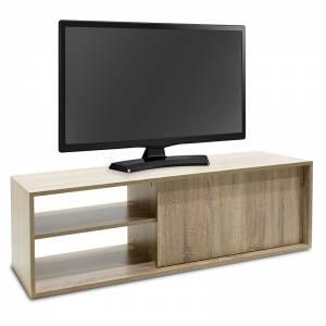Έπιπλο τηλεόρασης ECO TV pakoworld χρώμα sonoma 120x40x38 εκ