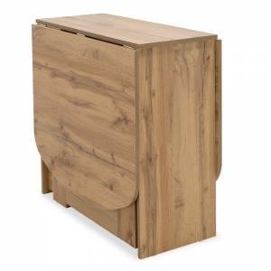 Τραπέζι Julian pakoworld πολυμορφικό-επεκτεινόμενο χρώμα gold oak 80x37x75,5εκ