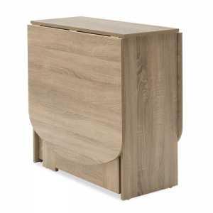 Τραπέζι Julian pakoworld πολυμορφικό-επεκτεινόμενο χρώμα sonoma 80x37x75,5εκ
