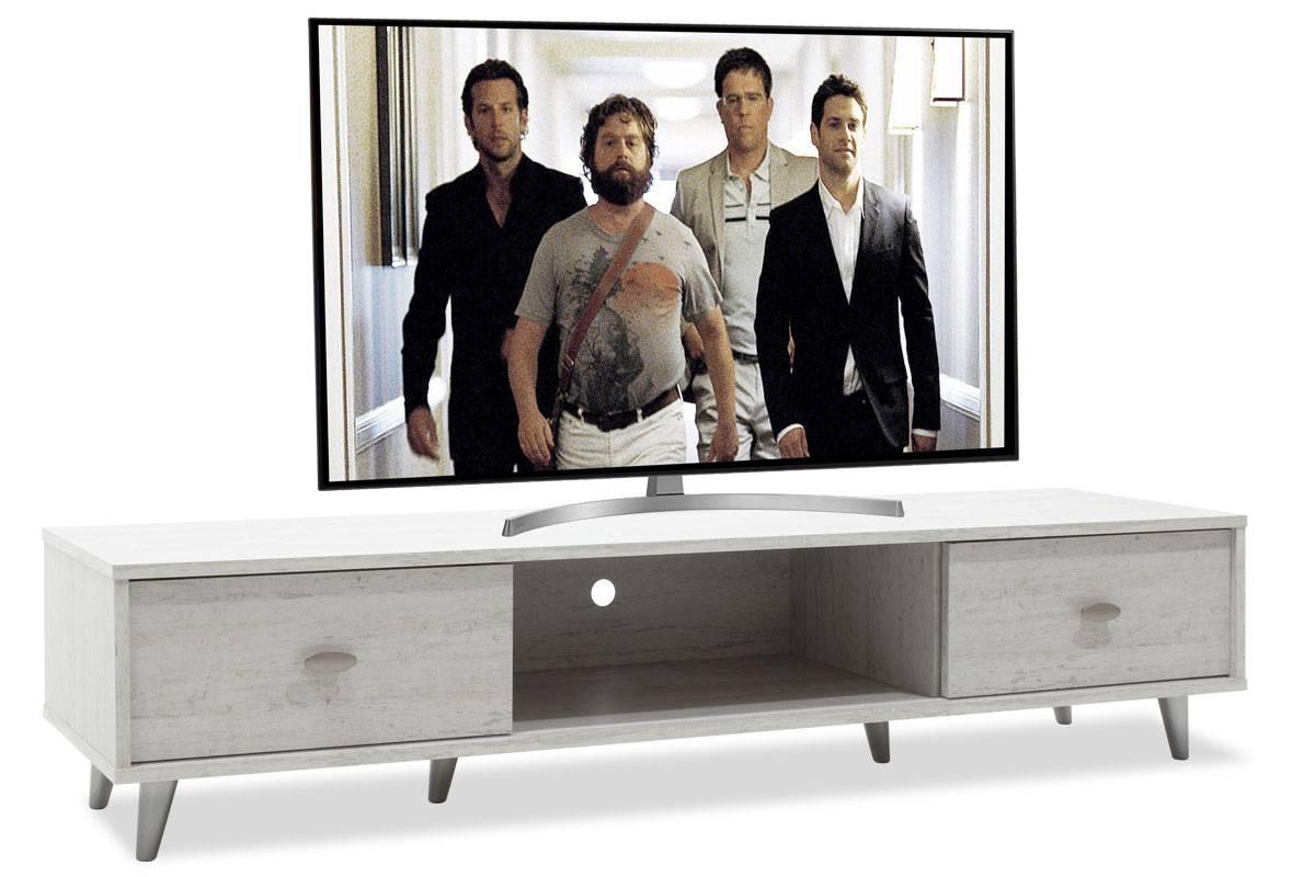 Έπιπλο τηλεόρασης FIRENZE χρώμα γκρι-λευκό 150,5x41x33εκ