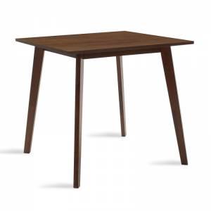 Τραπέζι Benson pakoworld MDF με καπλαμά  χρώμα καρυδί 80x80x75εκ