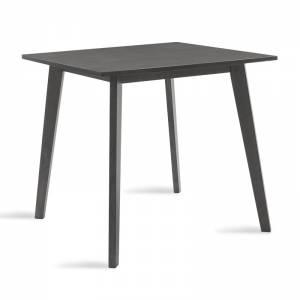 Τραπέζι Benson pakoworld MDF με καπλαμά  χρώμα rustic grey 80x80x75εκ
