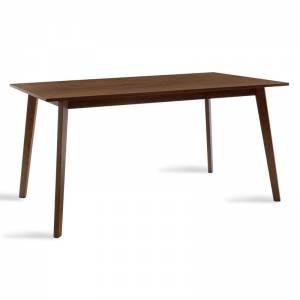 Τραπέζι Benson pakoworld MDF με καπλαμά χρώμα καρυδί 150x90x75εκ