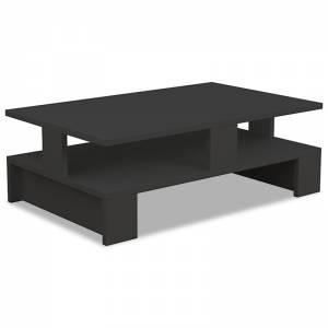 Τραπέζι σαλονιού Mansu pakoworld χρώμα ανθρακί 80x50x27,5εκ