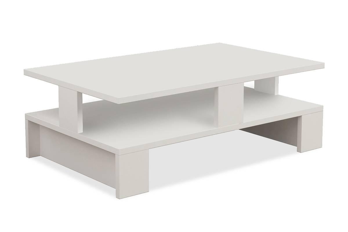 Τραπεζάκι σαλονιού Mansu χρώμα λευκό 80x50x27,5εκ