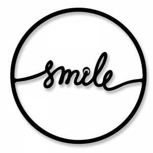 Μεταλλικό διακοσμητικό τοίχου Smile 45x0,3x45εκ