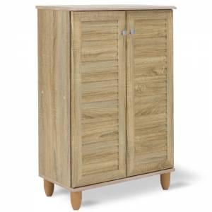 Παπουτσοθήκη-ντουλάπι SANTO pakoworld 10 ζεύγων χρώμα sonoma 60x34,5x91,5εκ