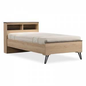 Κρεβάτι μονό Bruno pakoworld χρώμα viscount - toro 100x200εκ