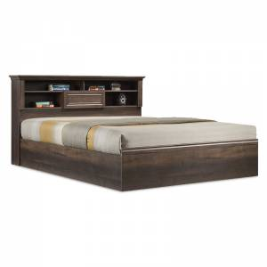 Κρεβάτι διπλό Mozart pakoworld σε χρώμα καρυδί 160x200εκ