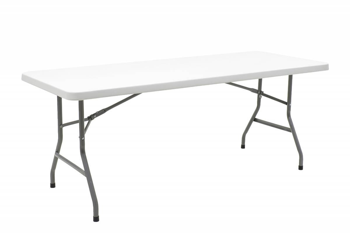 Τραπέζι catering-συνεδρίου APRILIA λευκό μονοκόμματη επιφάνεια 183x76x74εκ