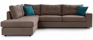 Γωνιακός καναπές -Mocca-Αριστερή