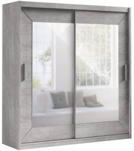 Ντουλάπα συρόμενη -200 x 60 x 215 εκ.-Concrete