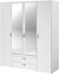 Ντουλάπα τετράφυλλη με καθρέπτη-Leuko