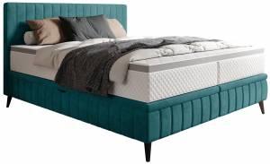 Επενδυμένο κρεβάτι 140 x 200-Petrol