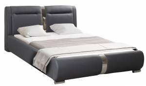 Επενδυμένο κρεβάτι 140 x 200-Χωρίς μηχανισμό ανύψωσης-Gkri Skouro