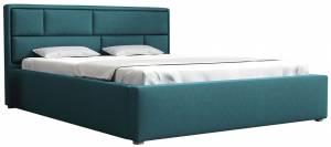 Επενδυμένο κρεβάτι 160 x 200-Petrol
