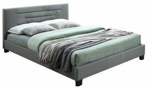 Επενδυμένο κρεβάτι Γκρι ανοιχτό