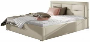 Επενδυμένο κρεβάτι 140 x 200-Mpez-Χωρίς μηχανισμό ανύψωσης