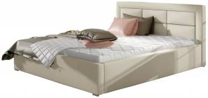 Επενδυμένο κρεβάτι 160 x 200-Mpez-Χωρίς μηχανισμό ανύψωσης