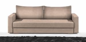 Καναπές Τριθέσιος-215φ 80β εκ.-Μπεζ